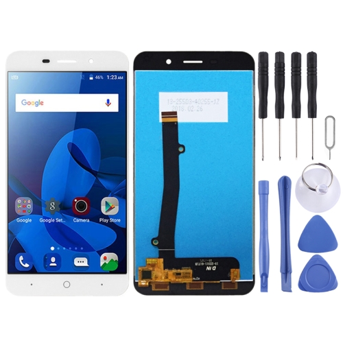LCD Screen and Digitizer Full Assembly for ZTE Blade A602 (White)