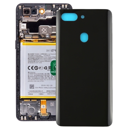 Curved Back Cover for OPPO R15 Pro(Black)