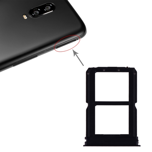 SIM Card Tray + SIM Card Tray for OnePlus 6T (Black)