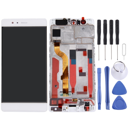 For Huawei P9 Standard Version LCD Screen and Digitizer Full Assembly with Frame(White)