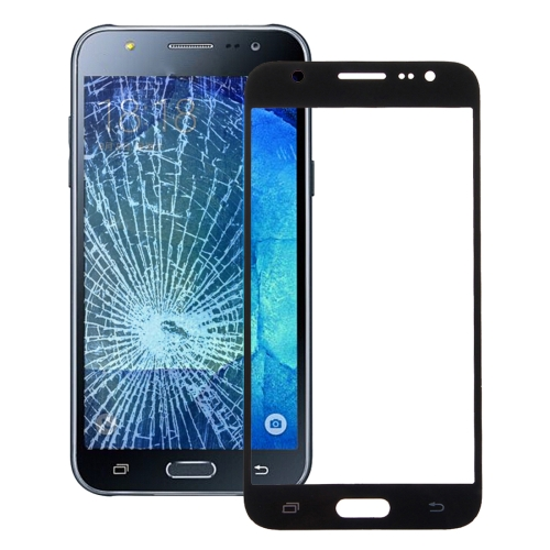 Front Screen Outer Glass Lens for Galaxy J5 / J500 (Black)