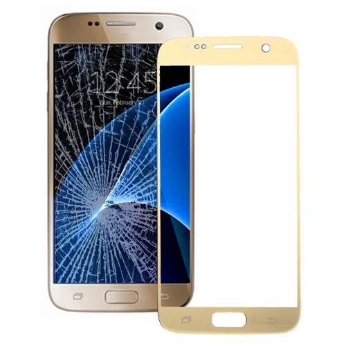 Front Screen Outer Glass Lens for Galaxy S7 / G930 (Gold)