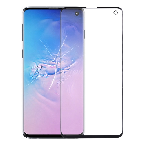 Front Screen Outer Glass Lens for Galaxy S10 (Black)