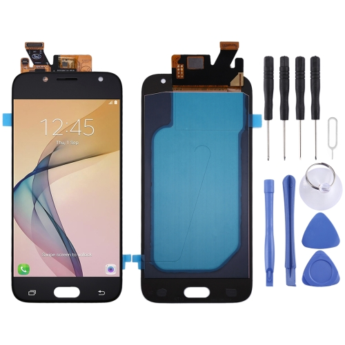 Oled Material LCD Screen and Digitizer Full Assembly for Galaxy J5 (2017) / J530(Black) Lead Time: 1~3 Days.