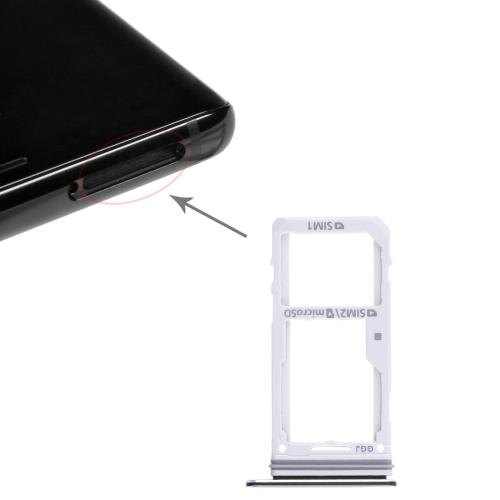 2 SIM Card Tray / Micro SD Card Tray for Galaxy Note 8(Black)