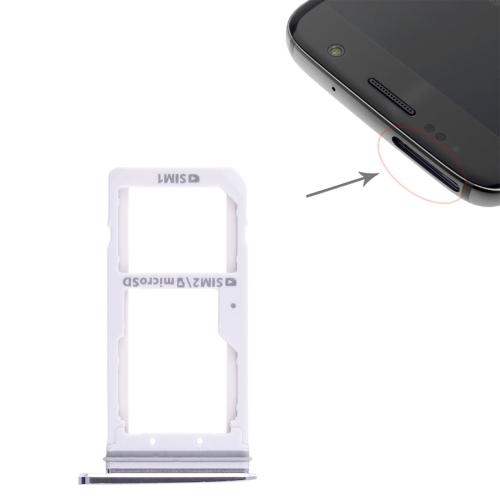 2 SIM Card Tray / Micro SD Card Tray for Galaxy S7(Black)