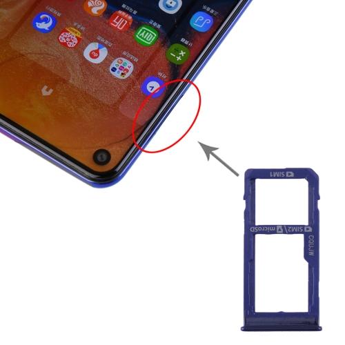 SIM Card Tray + SIM Card Tray / Micro SD Card Tray for Samsung Galaxy A60 (Blue) фото