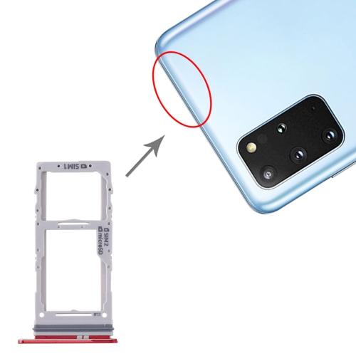 SIM Card Tray + SIM Card Tray / Micro SD Card Tray for Samsung Galaxy S20+ / Galaxy S20 Ultra (Red) фото
