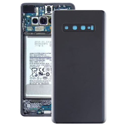 Battery Back Cover with Camera Lens for Galaxy S10+(Black)