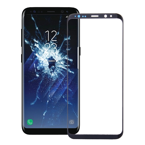 Front Screen Outer Glass Lens for Galaxy S8(Black)