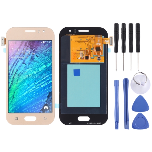 LCD Screen and Digitizer Full Assembly (TFT Material ) for Galaxy J110(Gold)