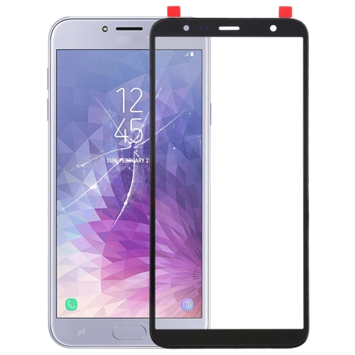 Front Screen Outer Glass Lens for Galaxy J4+ / J6+ / J610 (Black)