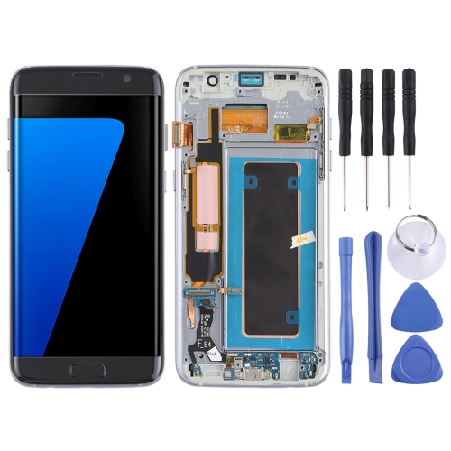 LCD Screen and Digitizer Full Assembly (Oled Material) (with Frame / Charging Port Flex Cable / Power Button Flex Cable / Volume Button Flex Cable) for Galaxy S7 Edge / G935F / G935FD(Black)