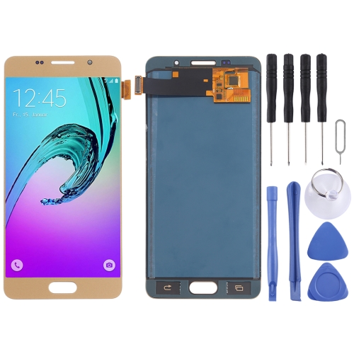LCD Screen and Digitizer Full Assembly (TFT Material) for Galaxy A5 (2016) / A510(Gold)