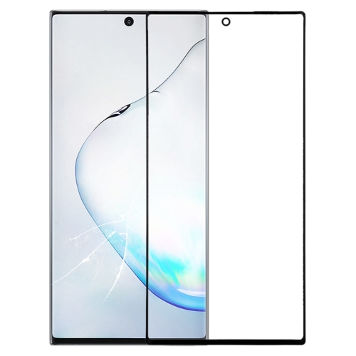 Front Screen Outer Glass Lens for Galaxy Note 10 + (Black)