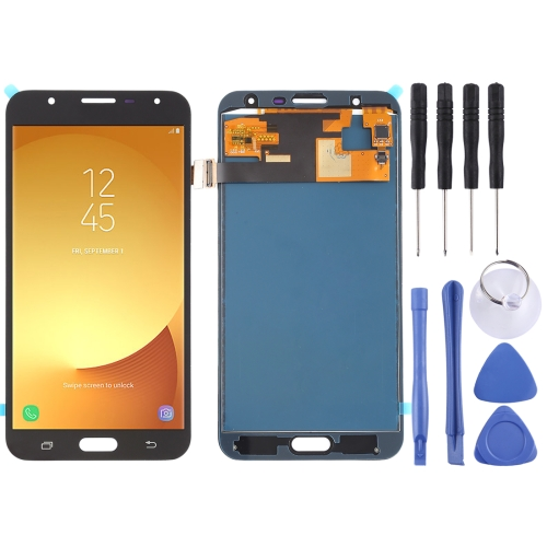 LCD Screen and Digitizer Full Assembly (TFT Material ) for Galaxy J7 Neo, J701F/DS, J701M(Black)
