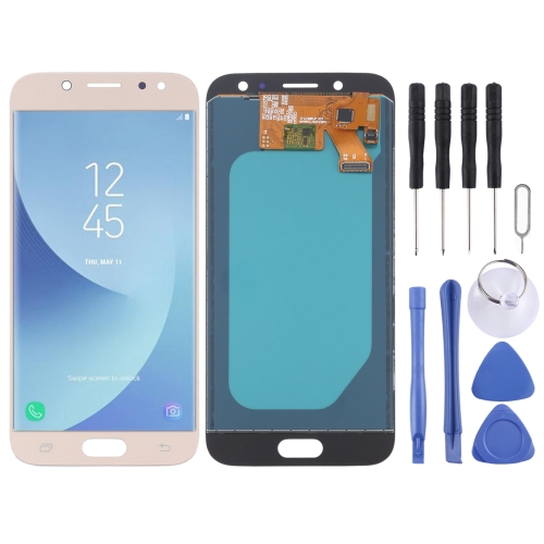 LCD Screen and Digitizer Full Assembly (TFT Material ) for Galaxy J5 (2017), J530F/DS, J530Y/DS(Gold)