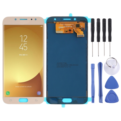 LCD Screen and Digitizer Full Assembly (TFT Material ) for Galaxy J7 (2017), J730F/DS, J730FM/DS(Gold)