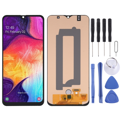 OLED Material LCD Screen and Digitizer Full Assembly for Samsung Galaxy A50 SM-A505