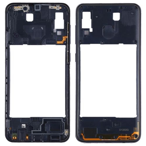 Middle Frame Bezel Plate for Galaxy A20(Black)