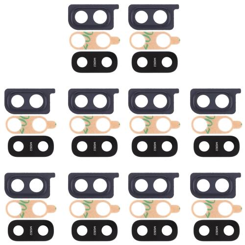 10 PCS Camera Lens Cover for Galaxy A20 (Black)
