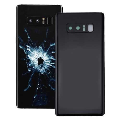 Back Cover with Camera Lens Cover for Galaxy Note 8 (Black)