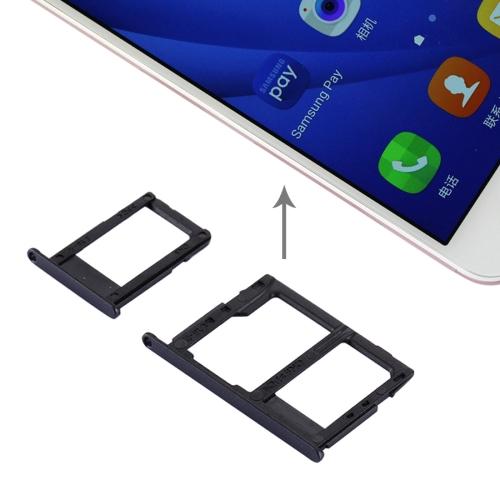 SIM Card Tray + Micro SD & SIM Card Tray for Galaxy J5 Prime / G570 & J7 Prime / G610(Black)