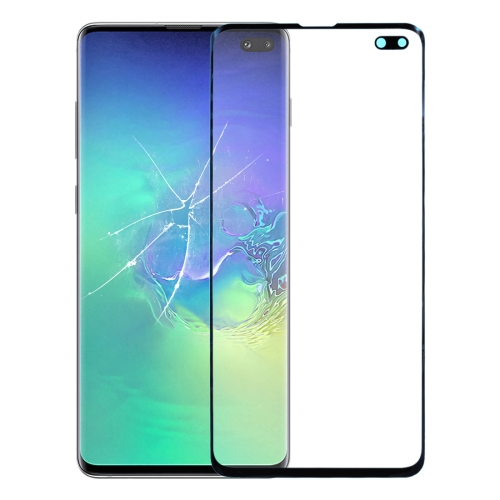 Front Screen Outer Glass Lens for Galaxy S10+ SM-G975F/DS, SM-G975U, SM-G975W (Black)