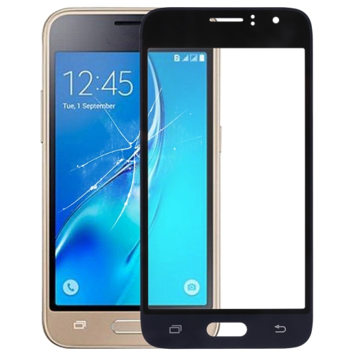 Front Screen Outer Glass Lens for Galaxy J1 (2016) / J120(Black)