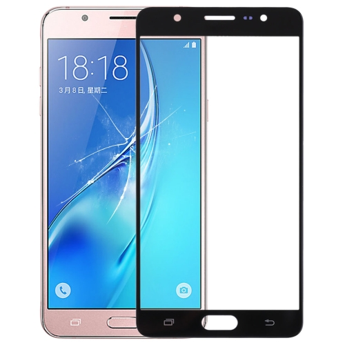 Front Screen Outer Glass Lens for Galaxy J7 Max(Black)