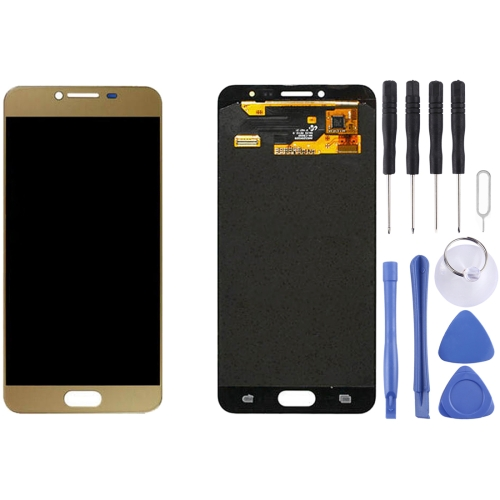 Buy iPartsBuy for Samsung Galaxy C5 / C5000 LCD Display + Touch Screen Digitizer Assembly, Gold for $94.90 in SUNSKY store