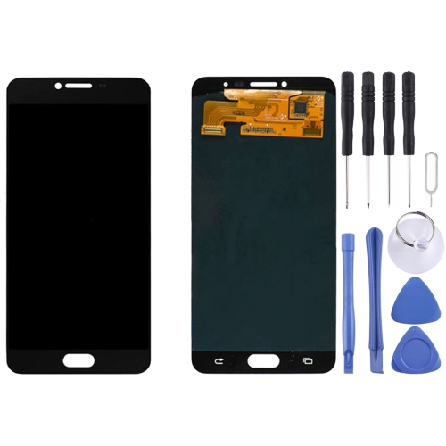 iPartsBuy for Samsung Galaxy C7 / C7000 LCD Display + Touch Screen Digitizer Assembly, Black