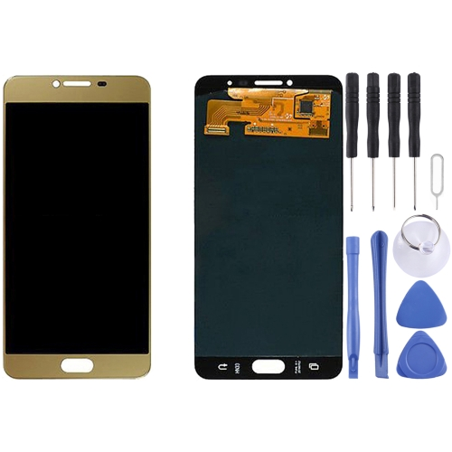Buy iPartsBuy for Samsung Galaxy C7 / C7000 Original LCD Display + Touch Screen Digitizer Assembly, Gold for $108.87 in SUNSKY store