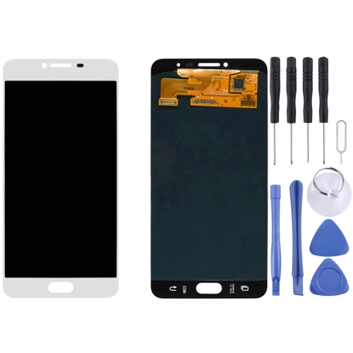 Buy iPartsBuy for Samsung Galaxy C7 / C7000 Original LCD Display + Touch Screen Digitizer Assembly, White for $106.83 in SUNSKY store