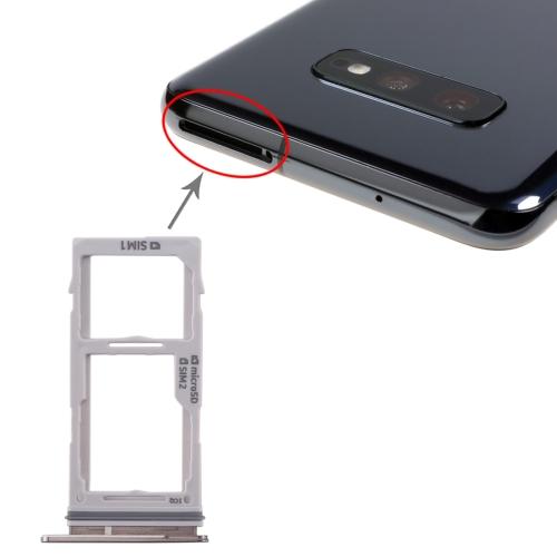 SIM Card Tray + SIM Card Tray / Micro SD Card Tray for Galaxy S10+ / S10 / S10e(Black) фото