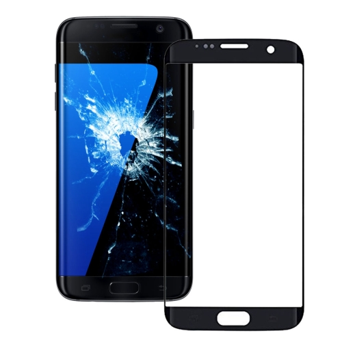 Original Front Screen Outer Glass Lens for Galaxy S7 Edge / G935 (Black)