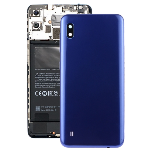 Battery Back Cover with Camera Lens & Side Keys for Galaxy A10 SM-A105F/DS, SM-A105G/DS(Blue)