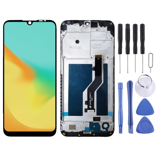 LCD Screen and Digitizer Full Assembly with Frame for ZTE Blade A7 2019 2019RU (Black)  - buy with discount