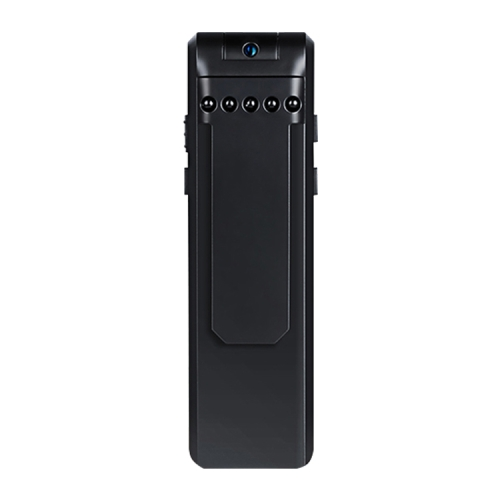 Back Clip Design 1080P HD Camera Voice Control Recording Machine, Support Motion Detection, Infrared Night Vision, 180 Degrees Rotation Camera, TF Card(Black)