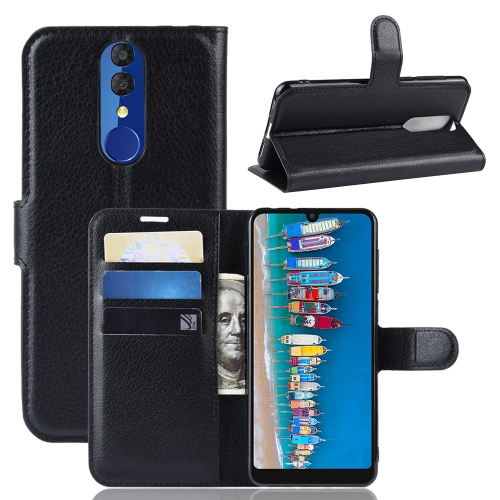 Litchi Texture Horizontal Flip Leather Case for Alcatel 3 2019, with Holder & Card Slots & Wallet(Black) фото