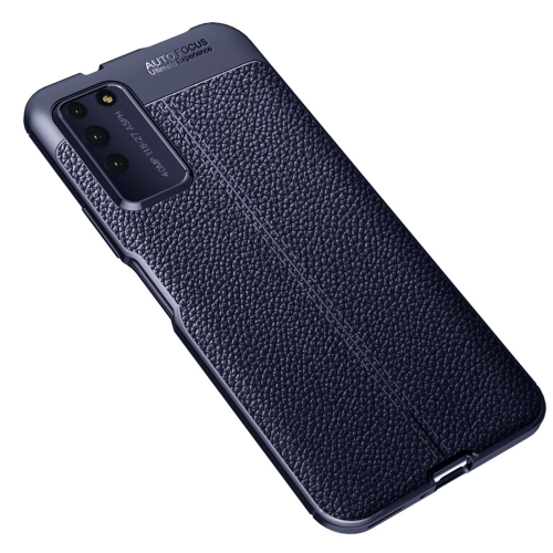 For Honor X10   Litchi Texture TPU Shockproof Case(Navy Blue)