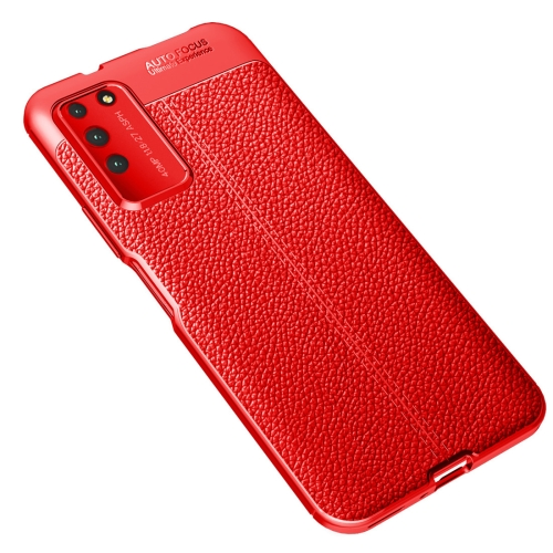 For Honor X10   Litchi Texture TPU Shockproof Case(Red)