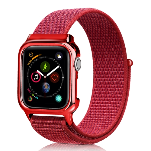 Simple Fashion Nylon Watch Strap with Frame for Apple Watch Series 4 44mm