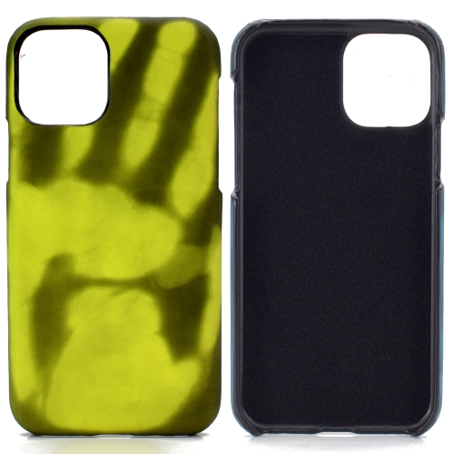 For Samsung Galaxy A70 / A70s   Paste Skin + PC Thermal Sensor Discoloration Protective Back Cover Case(Black to Green)