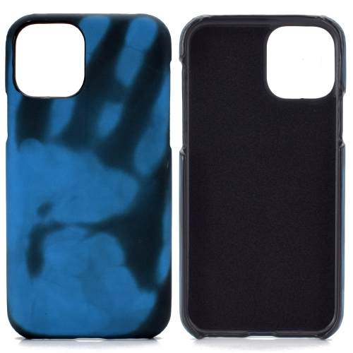 For Samsung Galaxy A70 / A70s   Paste Skin + PC Thermal Sensor Discoloration Protective Back Cover Case(Black to Blue)