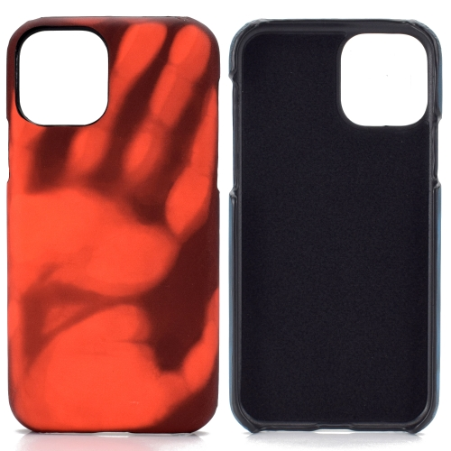 For Samsung Galaxy S20 Ultra   Paste Skin + PC Thermal Sensor Discoloration Protective Back Cover Case(Black to Red)