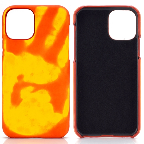 For Samsung Galaxy S20 Ultra   Paste Skin + PC Thermal Sensor Discoloration Protective Back Cover Case(Red to Yellow)