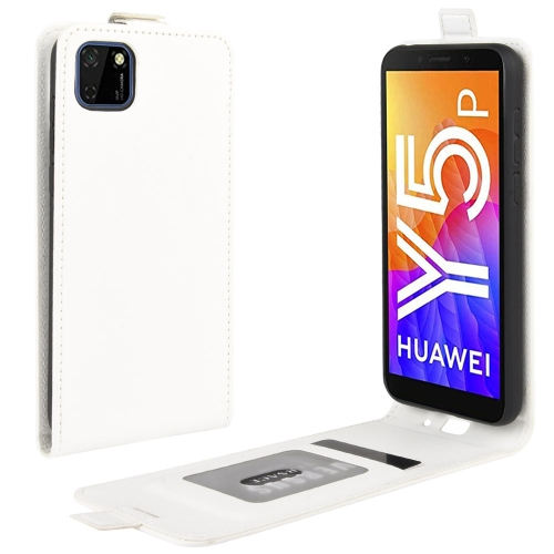 For Huawei Y5p/Honor 9S   R64 Texture Single Vertical Flip Leather Protective Case with Card Slots & Photo Frame(White)