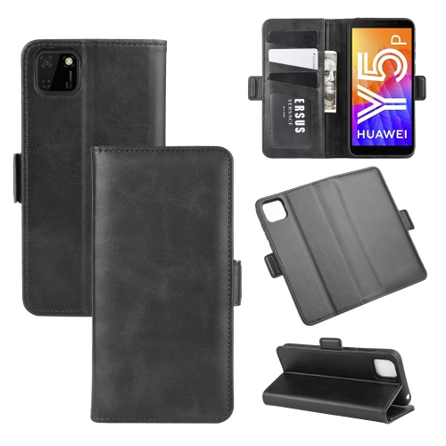 For Huawei Y5p/Honor 9S   Dual-side Magnetic Buckle Horizontal Flip Leather Case with Holder & Card Slots & Wallet(Black)