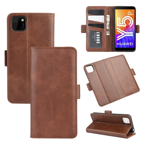 For Huawei Y5p/Honor 9S   Dual-side Magnetic Buckle Horizontal Flip Leather Case with Holder & Card Slots & Wallet(Brown)